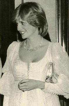 """March 8, 1982: Princess Diana at the theatre to see Elizabeth Taylor in """"The Little Foxes."""""""
