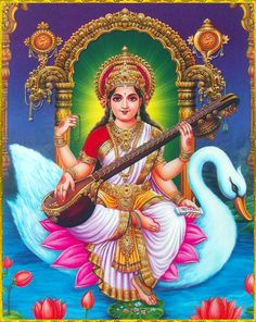 "☀ SARASWATI DEVI ॐ ☀ ""One who can see that all activities are performed by the body, which is created of material nature, and sees that the self does nothing, actually sees.""~Bhagavad Gita as it is..."