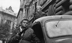 A couple of Hungarian freedom fighters bearing arms in Budapest, in preparation for the Russian forces. Original Publication: Picture Post - 8730 - Hungary's Last Battle For Freedom - pub. 1956 Get premium, high resolution news photos at Getty Images Mass Migration, Last Battle, Freedom Fighters, Central Europe, Historian, View Image, Stock Photos, Budapest Hungary