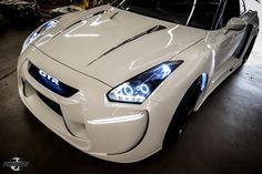 This Nissan new GT-R Radzilla is an LED Monster! Hit the pic to see it 'light up'!