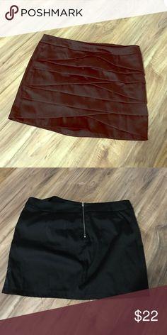 Black layered mini skirt Zip-Up Back Black Skirt twenty one Skirts Mini