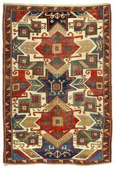 A Star Kazak rug, Caucasus, first half 19th century, 157 cm x 230 cm. Zaleski Collection