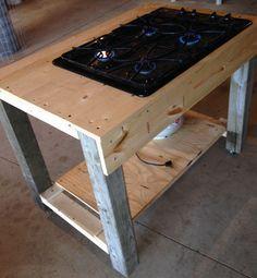 Homemade outdoor cooktop, ran off propane.