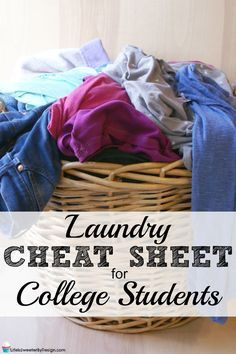 Is your child getting ready to head off to college? Get them ready to do their own laundry with a free printable laundry cheat sheet for college students! #TryMembersMark #ad