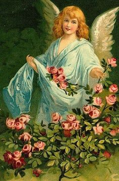 Shop Beautiful German Vintage Easter Angel Holiday Postcard created by easterfun. Personalize it with photos & text or purchase as is! Angel Images, Images Gif, Vintage Illustration, Victorian Angels, Angels Beauty, I Believe In Angels, Easter Art, Mystique, Angels In Heaven