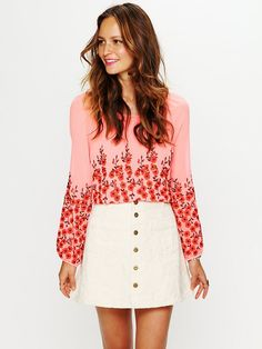 Free People Molly Jacquard High Waist Circle Skirt, $68.00