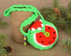 Children's crochet bag Watermelon