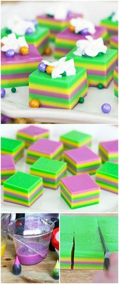 Mardi Gras Jelly Shots #MardiGras