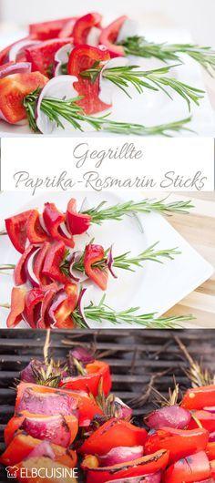 #rosmarin #paprika #grillspieße #paprikasticks #grillen #vegetarisch #vegan #glutenfrei #gemüse