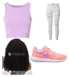 Untitled #12 by skylakilgore on Polyvore featuring polyvore, fashion, style, Glamorous, Frame Denim and NIKE