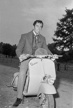 Henry Fonda on Vespa