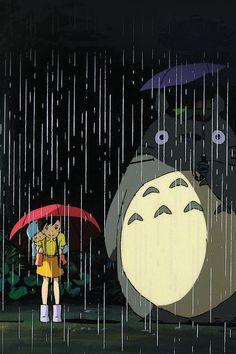 My Neighbor Totoro Art Illust Rain Anime #iPhone #4s #wallpaper