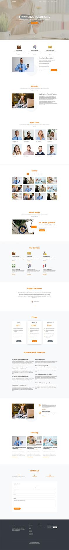 Banker is a free website template for banking, financial, credits, cooperatives and other forms of financial business. However, you can always tweak this free template to fit your needs. Free Web Design, Free Website Templates, Business, Fit, Shape, Store, Business Illustration