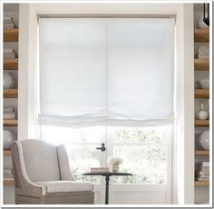 Relaxed Roman Shades - 22 Brilliant DIY Curtains Ideas for Your Windows Window Coverings, Window Treatments, Diy Bottle Lamp, Rustic Buffet, Relaxed Roman Shade, Diy Roman Shades, Custom Shades, Diy Curtains, Valance