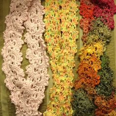Crocheted Scarves - Queen Anne's Lace pattern
