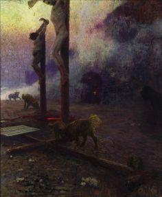 Golgotha by Ilya Repin (1921-22)