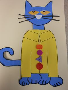 Pete the Cat and His Groovy Buttons craft...used glue dots to make the buttons stick
