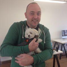 Our MD Stu & our puppy neighbour Freddie! #maltese #puppy