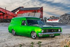 Unlike most vans, all the action is happening up front in this 'bagged HG Australian Muscle Cars, Aussie Muscle Cars, Holden Monaro, Holden Australia, Lexus Ls, Cool Vans, Best Classic Cars, Hot Rides, Custom Vans