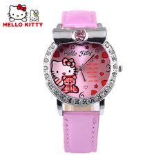 $2.98 (Buy here: https://alitems.com/g/1e8d114494ebda23ff8b16525dc3e8/?i=5&ulp=https%3A%2F%2Fwww.aliexpress.com%2Fitem%2F2016-Hello-Kitty-Watch-Kids-Girl-Luxruy-Crystal-Cartoon-Watches-Cute-Leather-Quartz-Watch-Children-Hour%2F32717445995.html ) Kids Hello Kitty Watch Girl Luxury Crystal Cute Cartoon Watches Leather Strap Children Watch Hour Clock Baby Gift montre reloj for just $2.98