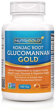 http://www.nutrigold.com/Glucomannan-Konjac-Root Health Benefits of Glucomannan  Natural source of soluble fiber - can absorb up to 50 times its weight in water* Increases the weight of food without increasing calories and helps support satiety* Supports appetite control and healthy weight management* Supports glucose health* Supports digestive health*