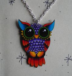 Vintage Style Tattoo Owl Necklace by theringleader on Etsy, $15.95