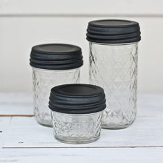 Mason Jar love, the little ones would be great for spices bought in bulk stores.
