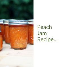 Peach jam recipe with less sugar and no store-bought pectin. Let me show you how easy it is to make homemade peach jam and can it! Freezer Jam Recipes, Jelly Recipes, Canning Recipes, Canning Tips, Peach Preserves Recipe, Canning Peaches, Dandelion Jelly, Homemade Jelly, Dandelion Recipes