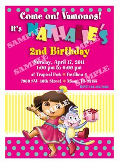 Dora Birthday Invitation  Dora the Explorer by artisacreations, $12.00