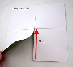 Create a speedy One Sheet Diagonal Triple Pocket Page in just a few minutes. Tutorial mini album
