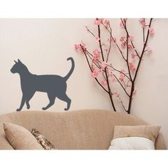 Style and Apply Cat Wall Decal (16in x 13in )