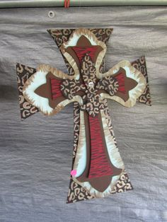Layered Wood Crosses with Fleur De Lis by FunandFunkyJewels, $29.99