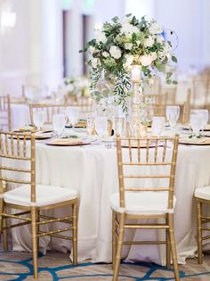 featured photographer: Hunter Ryan Photo; green and gold wedding reception idea
