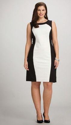 Robe courte noir et blanc
