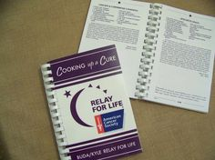 "Get team members, family, co-workers to send in their recipes and sell as a fundraiser. For this particular Relay for Life event, the title was ""Cooking for a Cure. Church Fundraisers, Grant Writing, Health Organizations, Faculty And Staff, Relay For Life, Life Plan, How To Raise Money, Helping Others, Cancer Awareness"