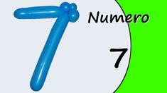 Video tutorial on how to make the Number Seven with balloon twisting. Learn the numbers with balloons modeled #numbers #number7 #numberseven