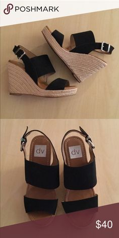 ❤️DV by Dolce Vita Wedges❤️ Black DV by Dolce Vita wedges! Size 7. Comes new in box never been worn. DV by Dolce Vita Shoes Wedges