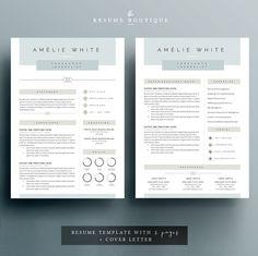 Modern Resume  Professional Resume  Cv Template  Word Resume