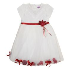 Perfect for a party! Girl's flower detail occasion dress (6-18 Months) £10.49