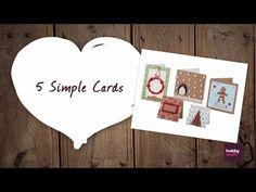 5 Simple Christmas Cards   Hobbycraft #ChristmasCards #HandmadeChristmas
