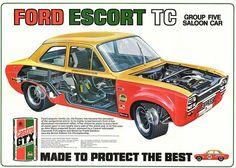 Classic Escort saloon car
