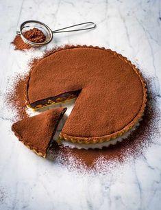 Best Chocolate Tart Recipes Caramel Tart Recipe with Chocolate Ganache, Nuts and Coffee