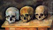 The Three Skulls  by Paul Cezanne