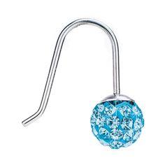 Blomdahl NT Mini Pendant Crystal Ball 6mm Aquamarine E