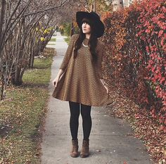 Fall outfit <dress> OOTD Magazine