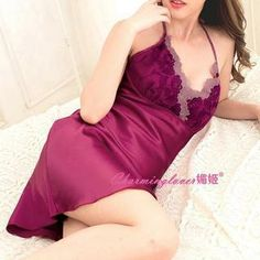 Lace-Trim Halter Nightdress from #YesStyle <3 Charming Lover YesStyle.com
