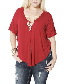 Poncho Lace Back Tee | Shop Jr. Plus at Wet Seal