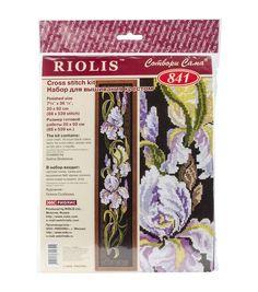 "Irises Counted Cross Stitch Kit-7.75""X36.25"" 16 Count"