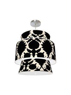 fabric covered pendant light