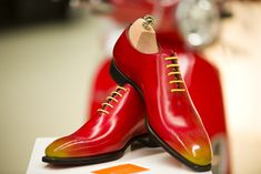 Red and yellow patina by Paulus Bolten http://www.theshoesnobblog.com/